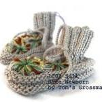 Organic Newborn-Booties, Silk Plant..
